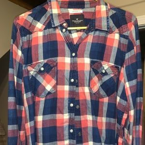 Pink and blue Flannel
